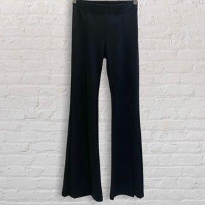 Kiki Riki High Waisted Black Flare Pants with Vertical Slits